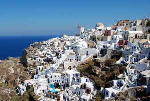 Santorini, Great place for a greek organic wine