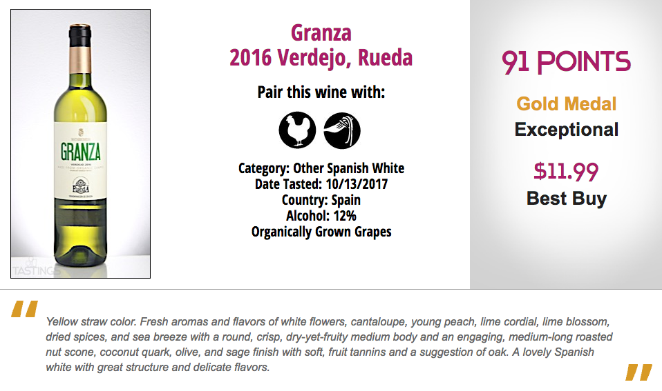 Natural Wine Review winner Granza Verdejo