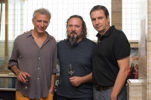 Filmmaker Jonathan Nossiter, Chakana Winemaker Gabriel Bloise and Chakana owner Juan Pelizzatti