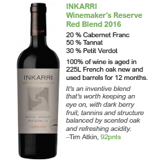 Biodynamic wines from Argentina - Inkarri Red Blend