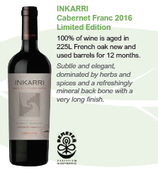 Biodynamic wines from Argentina - Inkarri Cabernet Franc