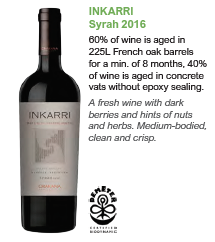 Biodynamic wines from Argentina - Inkarri Syrah