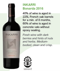 Biodynamic wines from Argentina - Inkarri Bonarda