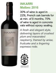 Inkarri Malbec 2016 - Organic Wine