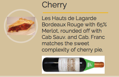 organic wine & pie pairings