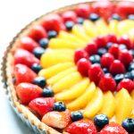 orgabnic wine & food pairings fruit tart