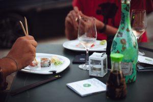 Pizzolato Sparkling Pinot Grigio and Sushi